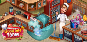 cooking team hile 300x146 - Garfield Rush Apk indir - Para Hileli Mod v3.5.3