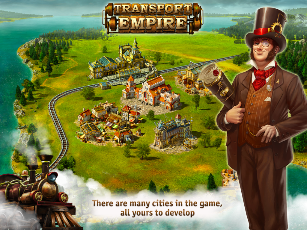 transport empire steam tycoon indir 1 1024x768 - Transport Empire: Steam Tycoon Apk indir - Para Hileli Mod v3.0.30
